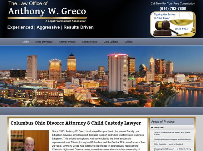 Web Design Spotlight- Attorney Greco At Law